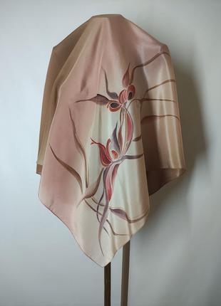 Шелковый платок шелк с ручной росписью silk