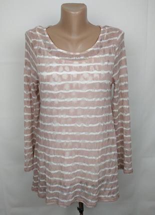 Блуза красивая двухслойная в полоску uk 10/38/s