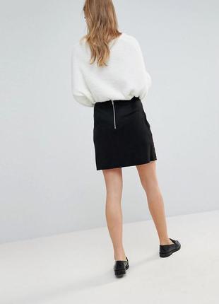 Милая мини юбка из эко замш с молнией сзади от new look 1+1=3 на всё 🎁
