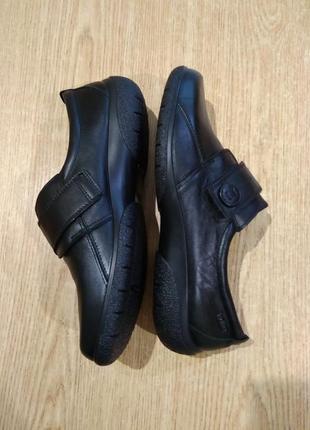 Кожаные женские туфли полуботинки hotter sugar на широкую ногу
