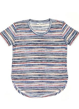 Pepe jeans s яркая удлинённая футболка в стиле missoni в полоску цветная