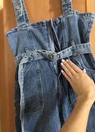 Подростковый джинсовый сарафан