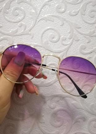 Стильные брендовые солнцезащитные женские очки в металлической оправе ray ban 2021