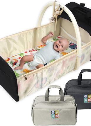 Люлька дорожная, переноска сумка, пеленатор, детская дорожная сумка, коврик для смены подгузника