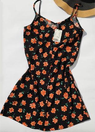 Лёгкий сарафан плятье ✨h&m✨ короткое платье цветочный принт