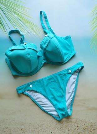 Голубой купальник, лиф 85ф 85f freya