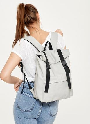 Рюкзак ролл унисекс rolltop lsh светло-серый нубук