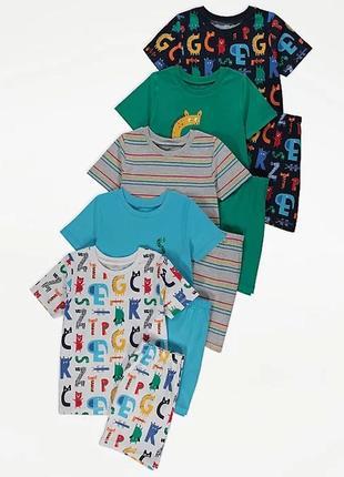Яркие летние пижамы для мальчика george, 4-5, 5-6 лет.