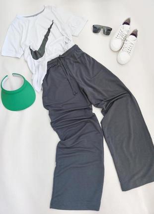 Спортивні штани палацо трикотажні від primark розмір m-l