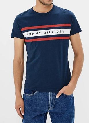 Футболка tommy hilfiger logo лого jeans denim