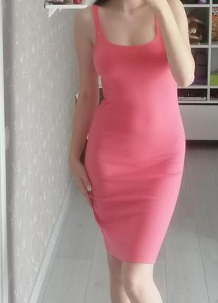 Летнее платье-футляр, обтягивающее платье, платье по фигуре