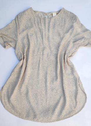 Блузка блуза футболка ✨h&m✨ в мелкий горошек крапочку