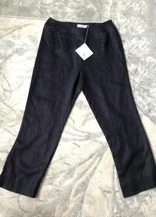Новые льняные брюки цвета нави