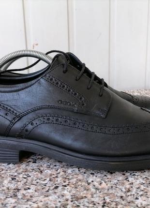 Кожаные туфли, броги фирмы geox