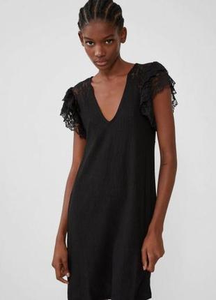 Шикарное прямое черное платье zara/новая коллекция