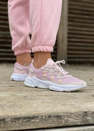 Легкие кроссовки adidas ozweego в сеточку демисезонные