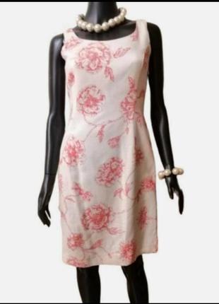 Фирменное платье в цветочный принт