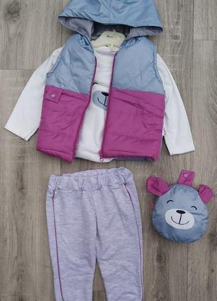 Ціна 320 грн безкоштовна доставка костюм трійка дитячий жилетка реглан сумка