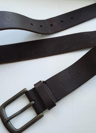 Hollister кожаный ремень