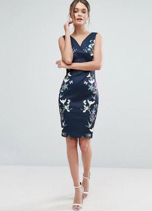 Платье футляр с цветочным принятом ted baker