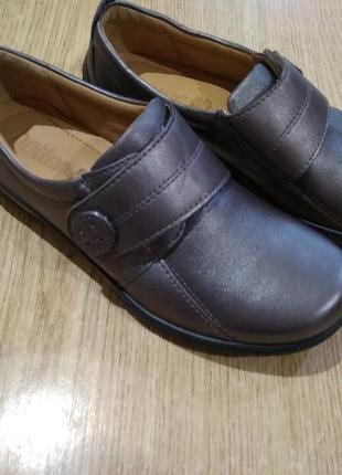 Кожаные женские туфли полуботинки hotter sugar