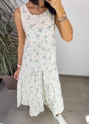 Женское повседневное платье миди с принтом