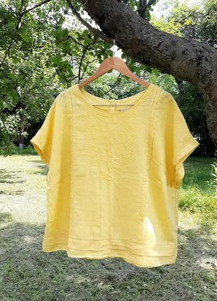 Льняная блуза большого размера батал