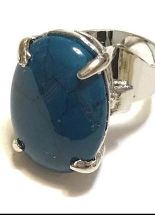 Кольцо с натуральным камнем бирюза