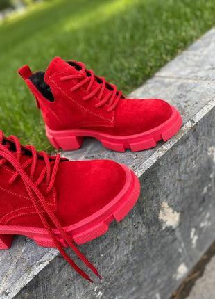 Невысокие ботинки натуральная замша/кожа от производителя