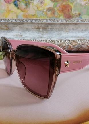Эксклюзивные розовые солнцезащитные женские очки 2021