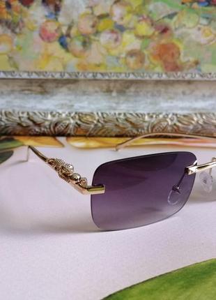 Эксклюзивные брендовые солнцезащитные женские безоправные очки 20212 фото