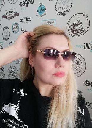 Эксклюзивные брендовые солнцезащитные женские безоправные очки 20216 фото