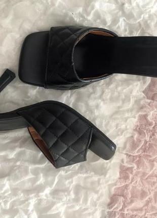 Туфли мюли, туфли с квадратным носком, плетёнки