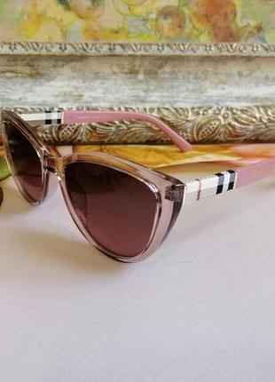 Эксклюзивные брендовые розовые солнцезащитные женские очки кошечки лисички 2021