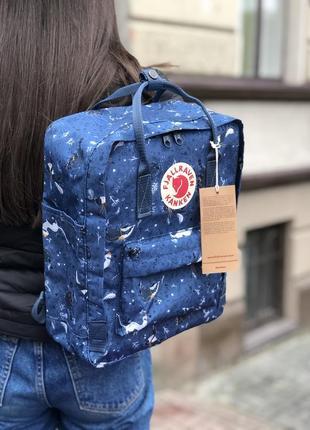 Kanken рюкзак fjallraven канкен classic 16l топ качество art blue fable
