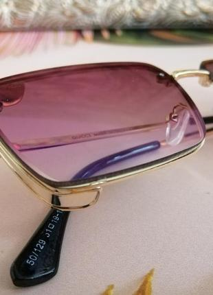 Эксклюзивные брендовые солнцезащитные женские очки в металлической оправе 2021 капелька клея ньюанс4 фото