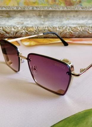 Эксклюзивные брендовые солнцезащитные женские очки в металлической оправе 2021 капелька клея ньюанс