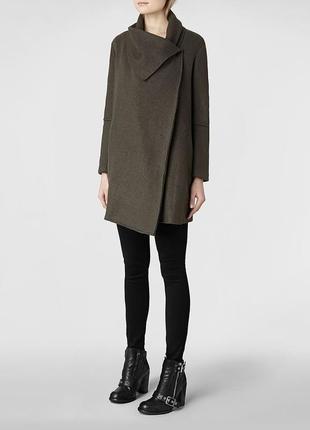 Шерстяное пальто allsaints vana coat vn5 cos zara