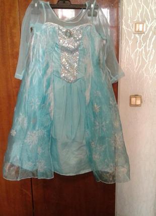 Детский карнавальный костюм королева эльза