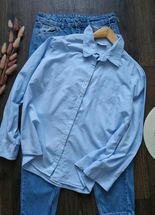 Рубашка хлопковая свободно кроя оверсайз