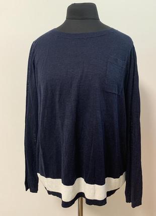 Льняной свитер