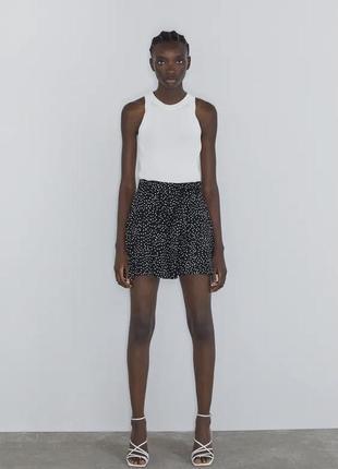 Красивая юбка шорты в горох м