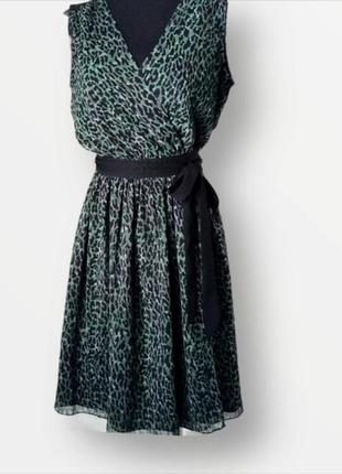 Классное платье на запах dkny анималистический принт