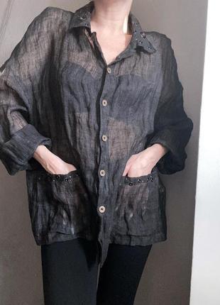 Дизайнерский льняной пиджак dany milano эксклюзив