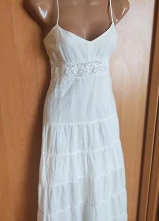 Невероятное платье миди хлопковое george