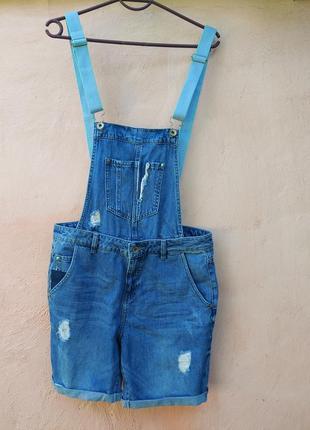 Комбинезон шорты джинсовый