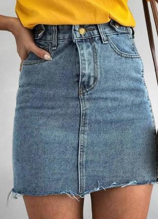 Стильная джинсовая юбка💙💙💙s,m,l