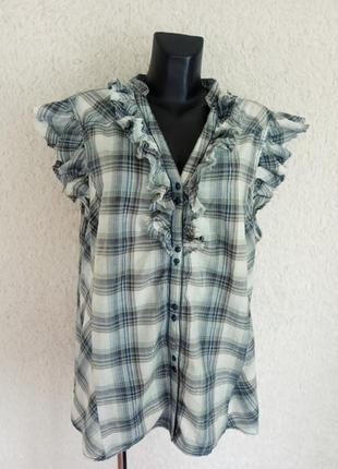 Хлопковая летняя блуза 24р