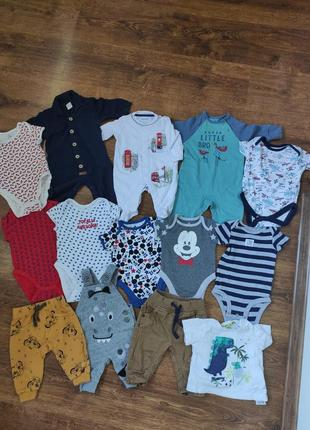 Набор детских вещей для мальчике 0-3 месяцев
