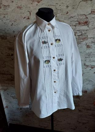 Винтажная австрийская рубашка с вышивкой
